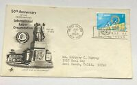 United Nations 50th Anniversary ILO Labor Org First Day Issue Postal Cover FDC