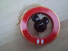 OFFICIAL DISNEY MICKEY MOUSE HEAD SILHOUETTE WOOD SPIN TREE DECORATION BAUBLE