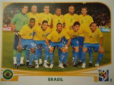 Panini 486 team brasil brasil fifa wm 2010 Sudáfrica