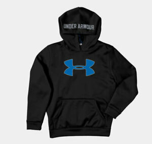 UNDER ARMOUR Storm Logo HOODIE Sweatshirt Youth  S M or L Black Red Blue Grey UA