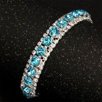 Wedding Zircon Cubic Elegant Bracelet Rhinestone Chain Jewelry