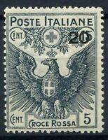 Italia Regno 1915 Sass. 104 Nuovo ** 100% Pro Croce Rossa 20