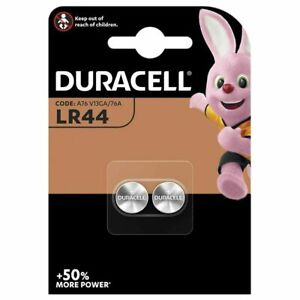 100 x Duracell LR44 1.5V Button Cell Batteries A76 V13GA Expiry 2023