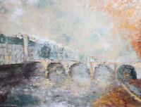 European oil painting impressionist landscape signed