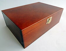 NEW HANDMADE BROWN WOODEN STORAGE BOX FOR CHESS PIECES FACTORY SECONDS TO CLEAR