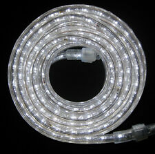 "LED Rope Light 24Ft 110V 120V 2-Wire 1/2"" White Outdoor Decoration Building Bar"