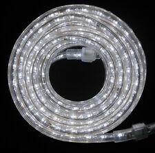 "LED Rope Light 24Ft 110V 120V 2-Wire 1/2"" White Outdoor Decoration Building Bar"