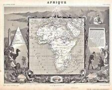 Estampes, gravures et lithographies du XIXe siècle et avant carte géographique