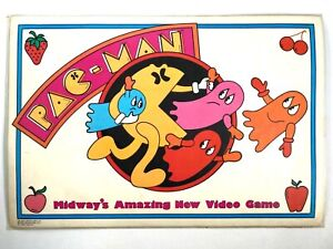 1980 PAC-MAN vintage 2-sided laminated PLACEMAT Bally Midway ANNOUNCING NEW GAME