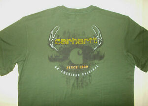 NWT CARHARTT SHORT SLEEVE RELAXED FIT OLIVE GREEN T-SHIRT MENS XL