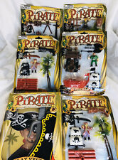 Pirate  Figure Playset Lot Of 6 New In Package