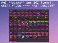 Murder Mystery 2 MM2 *ULTRA* GODLY set 102 items ancient vintage + pets Roblox