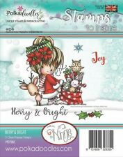 Winnie Merry & Bright - PD7965 Polkadoodles Christmas Clear Cling Stamp