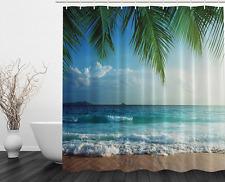Palms Ocean Tropical Island Beach Decor Bathroom W Hooks Fabric Shower  Curtain