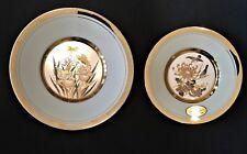 Chokin Original Dynasty Gallery 24Kt Set Of 2 Gold Plates Free Shipping