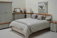 Grey Painted Oak 6ft Super Kingsize Bed / Bed frame Superking Swainswick