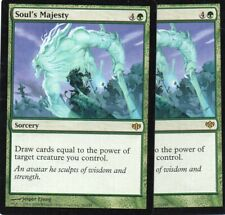 Magic Mtg Conflux Soul's Majesty x2   near mint