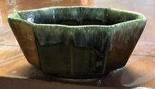 Vintage USA Green Drip Glazed Pottery Planter 6.5 X 4 X 3