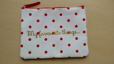 M&S WHITE COSMETICS / MAKE UP BAG / PURSE/ PENCIL CASE WITH RED SPOTS brand new
