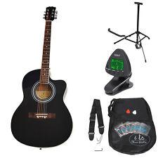 Guitare acoustique classique 4/4 Noire avec housse et accessoires Bois de rose