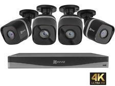 EZVIZ 4K UltraHD 8MP Outdoor IP PoE Surveillance System, 4 Weatherproof UHD EXIR