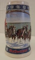 Collectible Budweiser 1995 Holiday Stein Beer Stein Handcrafted