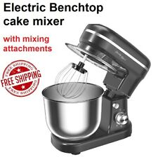 Benchtop Cake Mixer Machine with Whisk Spatula 5L Bowl Food Mixing Machine NEW