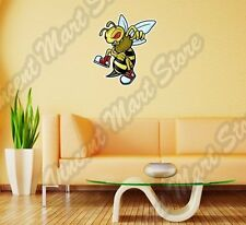 "Angry Wasp Bee Hornet Cartoon Funny Wall Sticker Room Interior Decor 18""X25"""