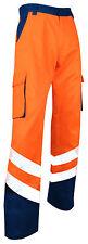 Pantalon de travail haute visibilité bleu orange Balise EN471 du 40 au 60