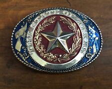 """STATE OF TEXAS OVAL BELT BUCKLE NEW, Gold Plated Fits up to 1.5"""" Belt"""