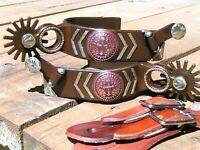 Cowboy Western Men's CROSS spurs WITH leather straps