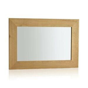 Cosmopolitan Mirror Natural Solid Oak 900mm x 600mm Wall Mirror. RRP £