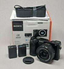 Sony Alpha A6000 24.3MP Digital Camerawith 16-50mm Lens - 35 Clicks!