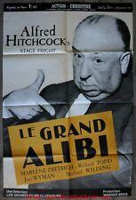 LE GRAND ALIBI Affiche Cinéma Movie Poster 120x80 ALFRED HITCHCOCK