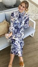 Gorgeous Witchery Current Floral Long Sleeve Dress Size 10 Brand New
