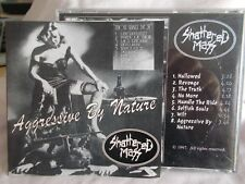 SHATTERED MASS - AGGRESSIVE BY NATURE - OZ 8 TRK CD - HARDCORE PUNK -DOWNTIME