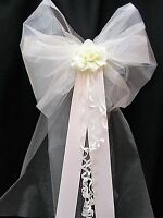 10 x Wedding Pew Bows Large & Fluffy Church Venue Great For LARGE PEW ENDS