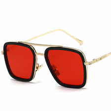 Tony Stark Sunglasses Men Square Metal Avengers Iron Man Sun Glasses Eyewear Hot