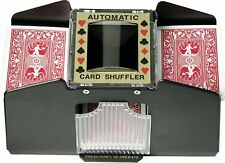 Fat Cat Poker/Casino Game Table Accessory: Automatic Playing Card Shuffler, Hold