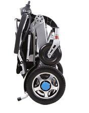 carrozzina per disabili elettrica  pieghevole in alluminio