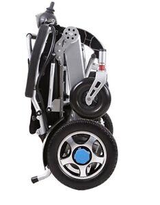 carrozzina elettrica pieghevole per disabili in alluminio