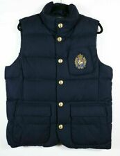 Polo Ralph Lauren Men's Wool Down Vest Bullion Patch Crest Size XL