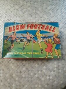 VINTAGE KIM TOYS 1950'S/60'S BLOW FOOTBALL BOXED COMPLETE - USED VGC