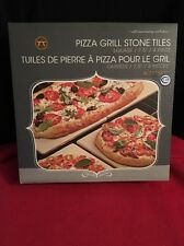 """Outset Grillware Pizza Grill Stone Tiles 7.5"""" Pack Of 4 !NEW!"""