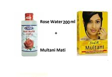 Hesh Multani Mati Mitti Powder 100g + Rose Water 200ml