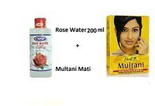 Hesh Multani Mati Mitti Powder 100g + Rose Water 200ml