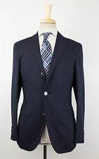 New. BOGLIOLI Blue Wool Blend 3/2 Button Suit Size 46/36 R Drop 6 $1295