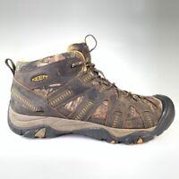 Keen Mens Hiking Shoes Brown Black Lace Up Low Top Waterproof 10