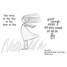 Unity Stamp Phyllis Harris Cling Rubber Stamp Set YOUR WINGS Be still Know God