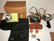 Argus C3 35mm Camera and Original Leather Case &  Flash